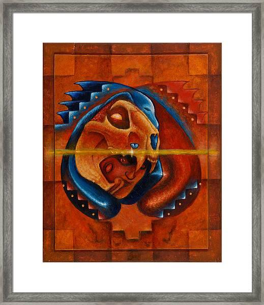 Heart Of The Jaguar Priest Framed Print