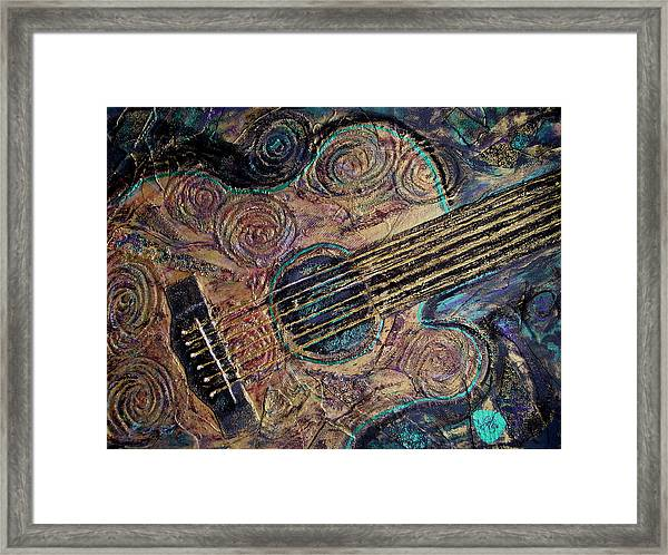 Framed Print featuring the mixed media Heart Strings by Gigi Dequanne