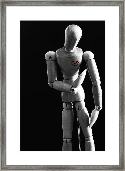 Heartbroken Mannequin Framed Print