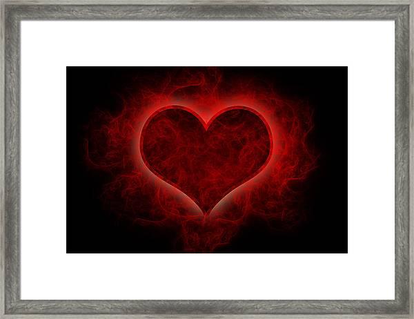 Heart's Afire Framed Print