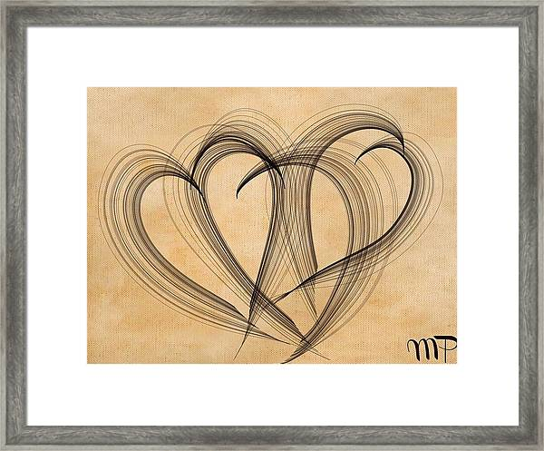Hearts Of Plenty Framed Print