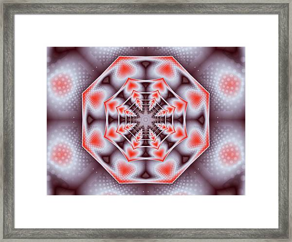 Hearts Of The Dharma Wheel Framed Print
