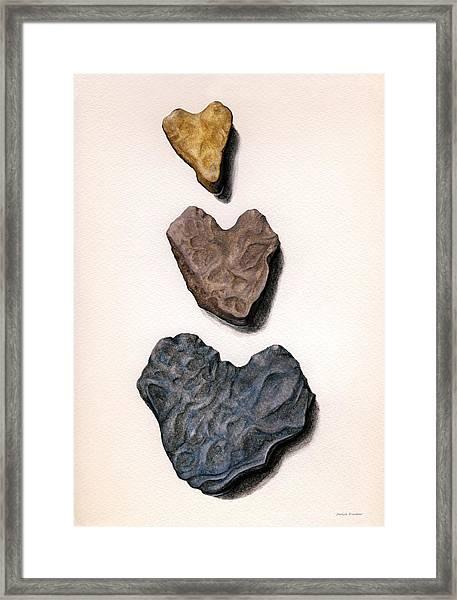 Hearts Rock Framed Print