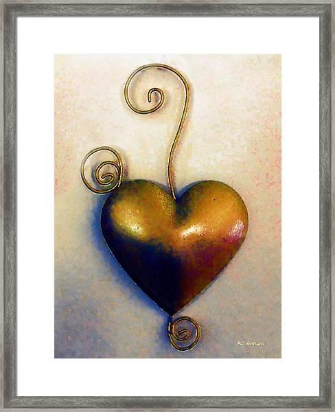 Heartswirls Framed Print