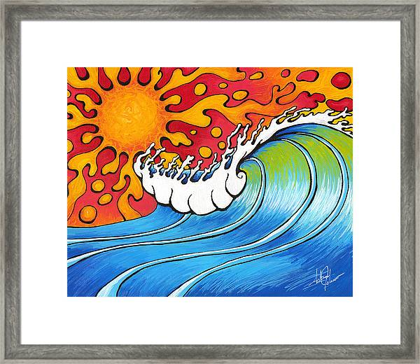 Heat Wave Framed Print