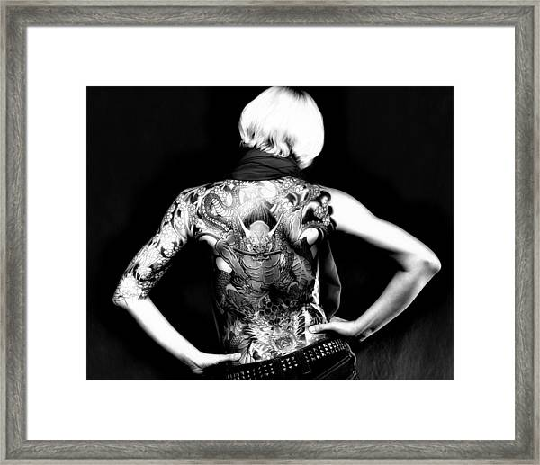 Heather The Tatooed Lady Framed Print