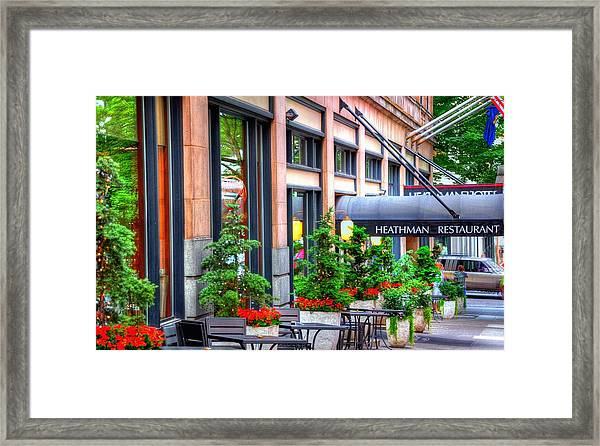 Heathman Restaurant 17368 Framed Print