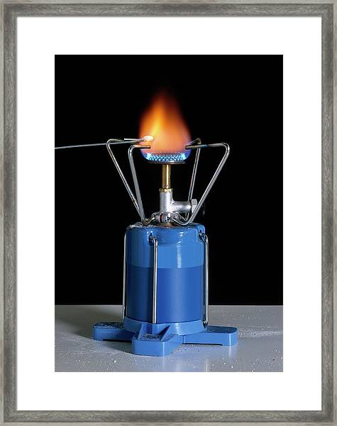 Heating Sodium Chloride Framed Print