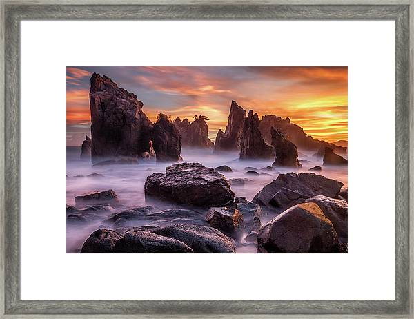 Heaven Of Rocks Framed Print by Gunarto Song