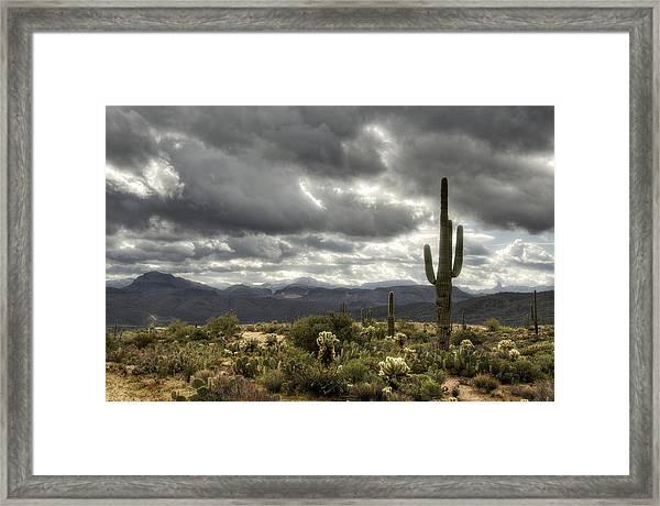 Heavenly Desert Skies  Framed Print