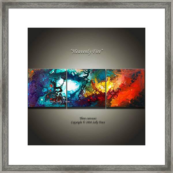Heavenly Fire Framed Print