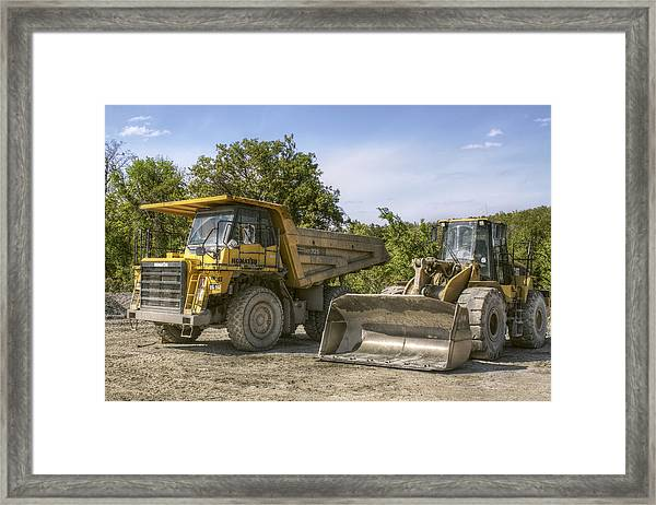 Heavy Equipment - Komatsu - Cat Framed Print