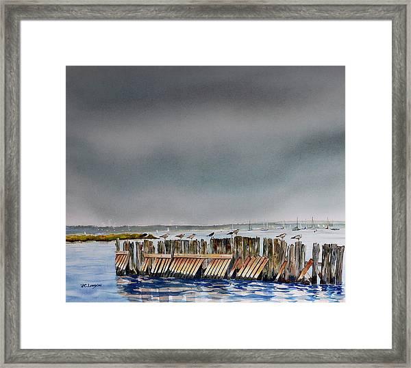 Heavy Sky In Keyport Framed Print