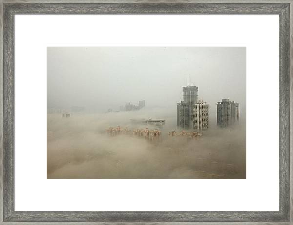 Heavy Smog Hits East China Framed Print by Vcg