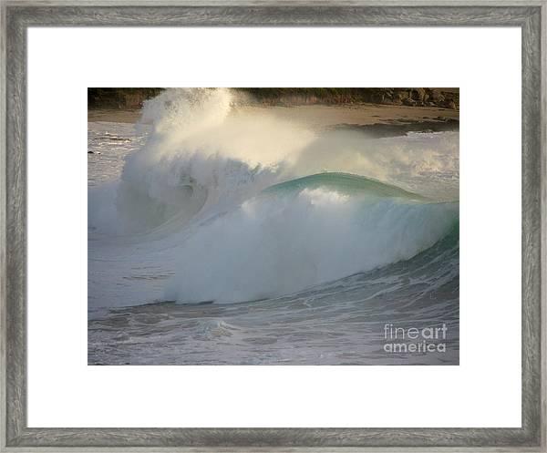 Heavy Surf At Carmel River Beach Framed Print