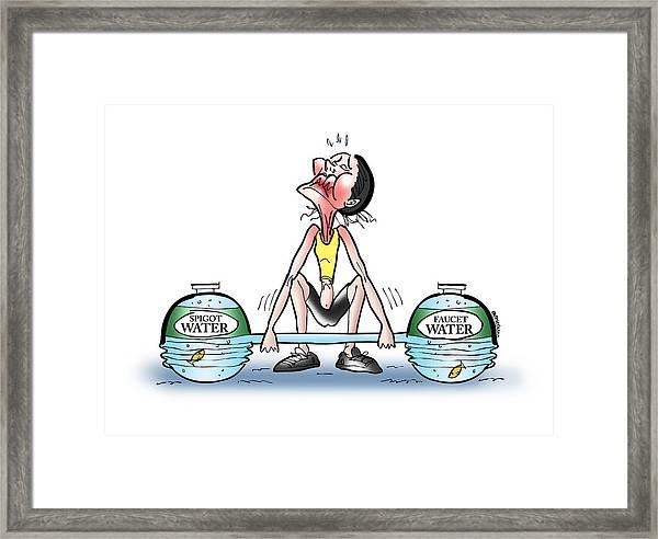 Heavy Water Framed Print