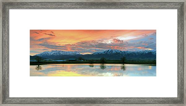 Heber Valley Sunset Framed Print