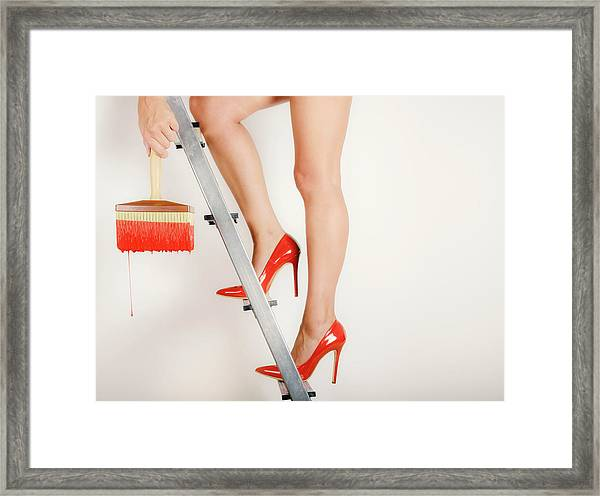 Heels On A Hot Tin Stair Framed Print