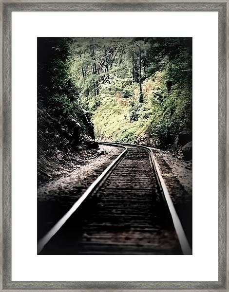 Hegia Burrow Railroad Tracks  Framed Print