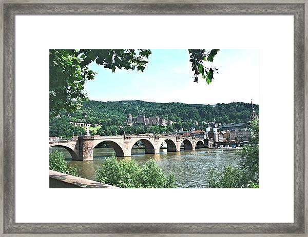 Heidelberg Schloss Overlooking The Neckar Framed Print