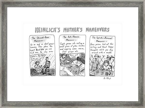 Heimlich's Mother's Maneuvers Framed Print