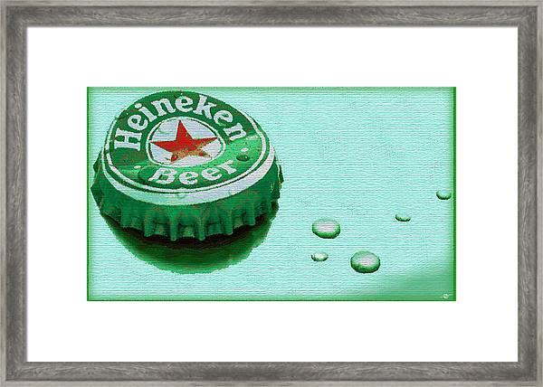 Heineken Cap Green Framed Print