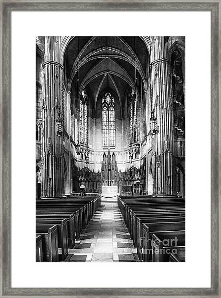 Heinz Memorial Chapel Interior Framed Print