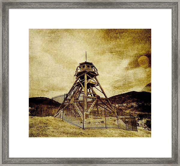 Helena-montana-fire Tower Framed Print