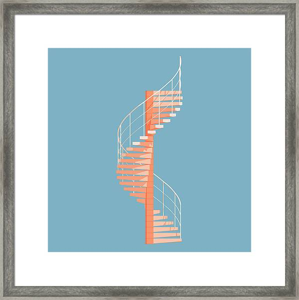 Helical Stairs Framed Print