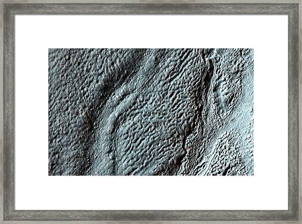 Hellas Crater Framed Print