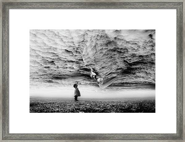 Hello Grandpa Framed Print by