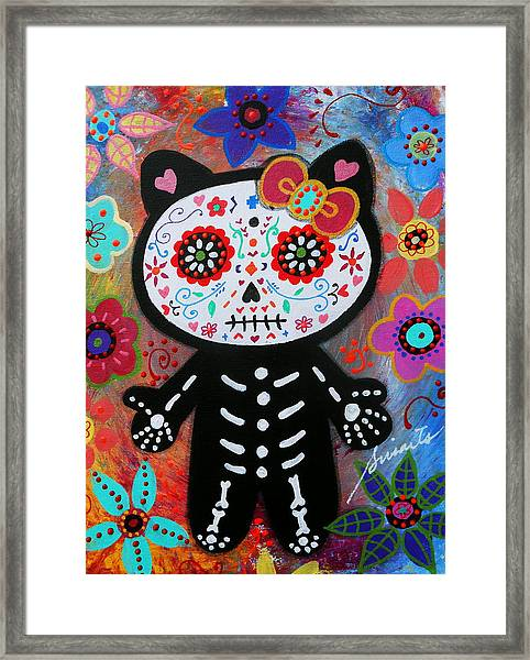 Hello Kitty Dia De Los Muertos Framed Print