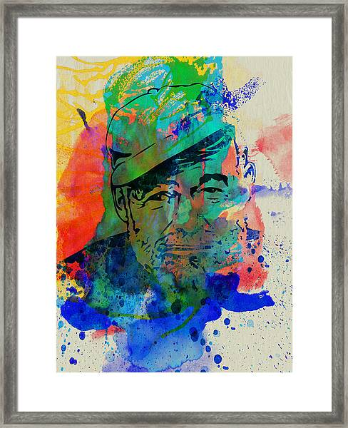 Hemingway Watercolor Framed Print