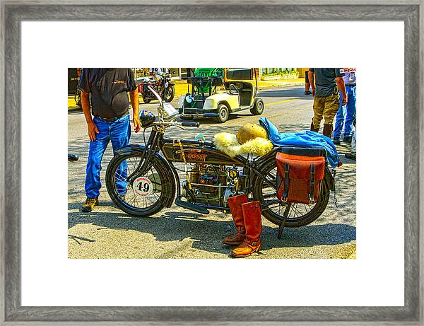 Henderson At Cannonball Motorcycle Framed Print