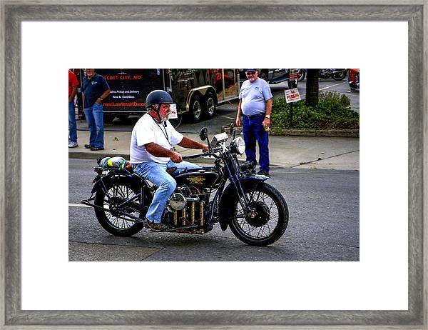 Henderson Four-banger Framed Print