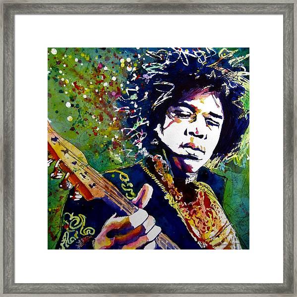 Hendrix Framed Print by Rebecca Foster