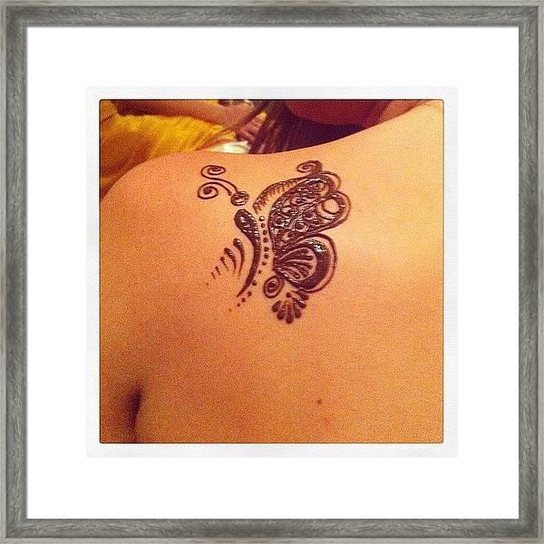 #henna #tattoo #butterfly#dubai Framed Print by Gauher Peerji