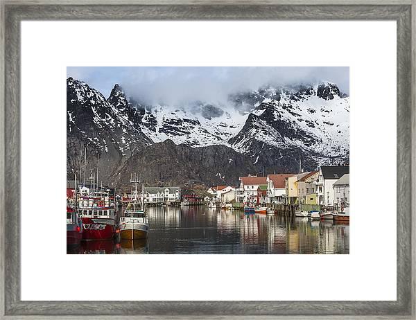 Henningsvaer Framed Print
