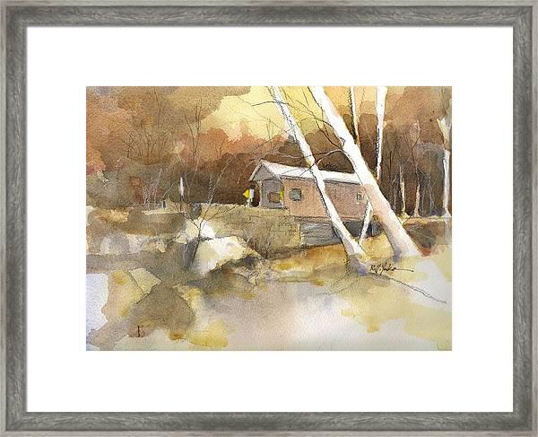 Henry Bridge In Fall  Framed Print