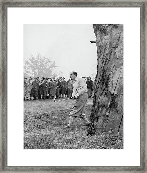 Henry Cotton Playing Golf Framed Print by Keystone Press Agency Ltd