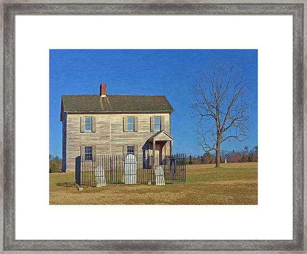 Henry House In Winter / Manassas National Battlefield Framed Print