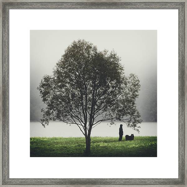 Her Life With A Dog Framed Print