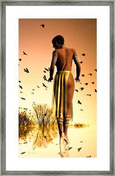 Her Morning Walk Framed Print