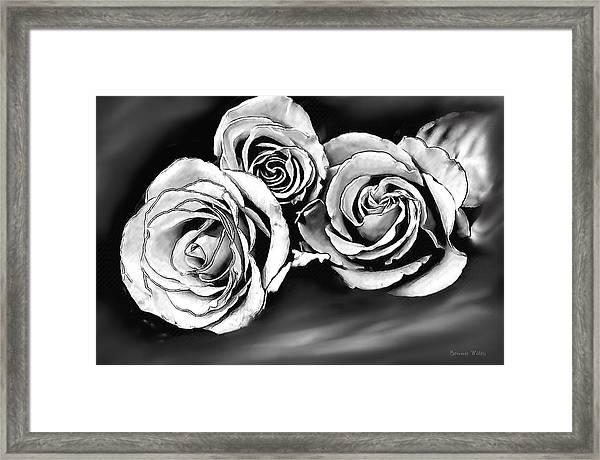 Her Roses Framed Print