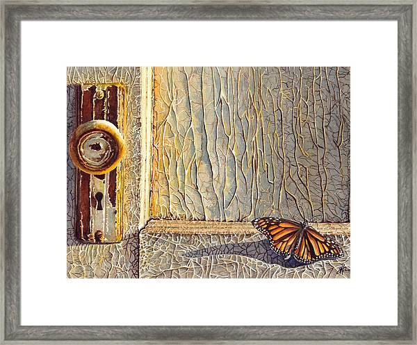 Her Wings Were Kissed By The Sun Framed Print