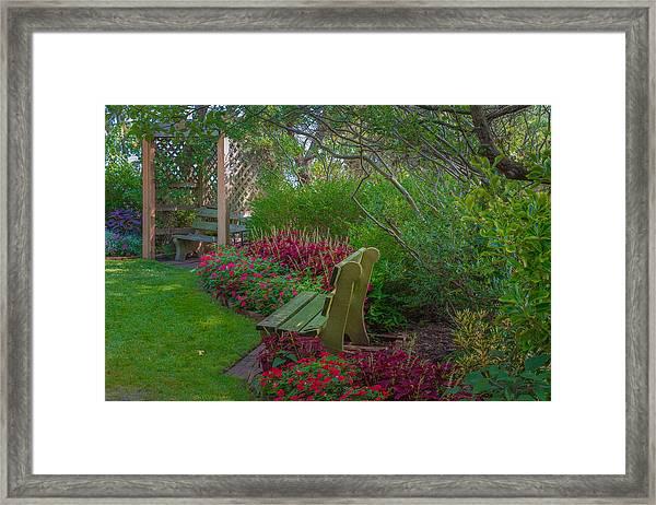 Hereford Inlet Lighthouse Garden Framed Print