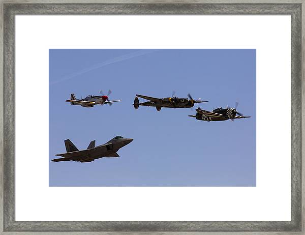 Heritage Flight Of Four Framed Print