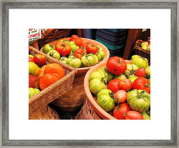 Heritage Tomatoes Framed Print