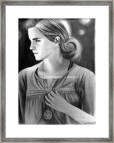 Hermione Granger Framed Print by Crystal Rosene