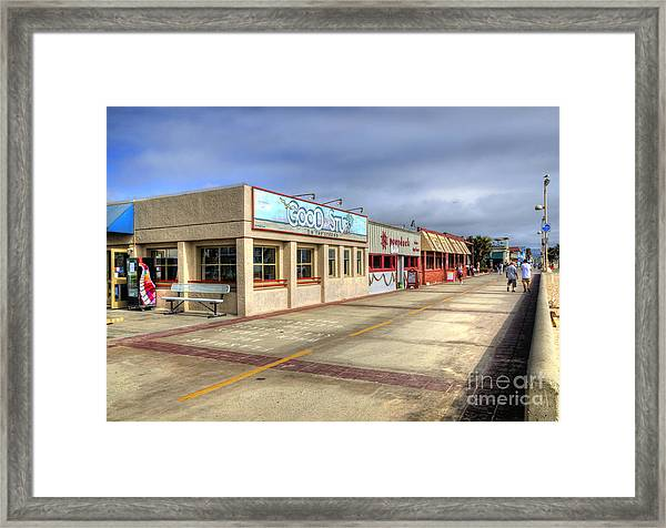 Hermosa Beach Boardwalk Framed Print